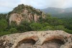 Castell de la Roca de Solius des de dalt de la Roca delMoros