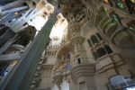 Sagrada Família. Interior de lanau