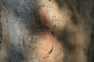 Pintures rupestres al costat de l'Abric de la Baridana I. Rojals, Montblanc, Muntanyes de Prades