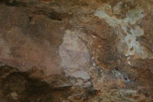 Pintures rupestres de la Roca Roja o de Valldecerves. Abric I