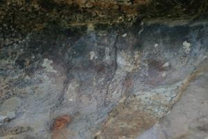 Pintures rupestres de la Roca Roja o de Valldecerves. Abric II