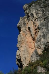 """""""Cavall"""" a la roca del Barranc de les Nines"""