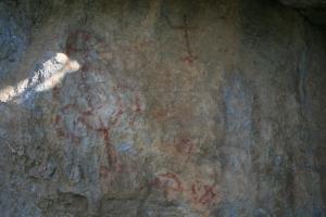 Pintures rupestres del Mas d'en Carles. Rojals, Montblanc, Muntanyes de Prades