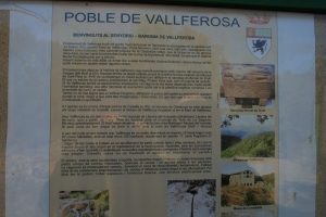 Informació del poble de Vallferosa (I)