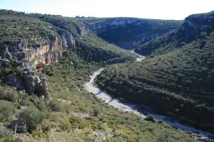 Vista des de l'Abric del Mas d'en Josep a la Valltorta