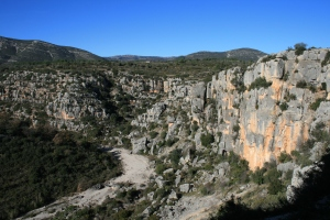 Barranc de la Valltorta des de la Cova dels Cavalls