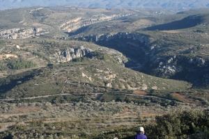 Vista del Barranc de la Valltorta des del Montegordo