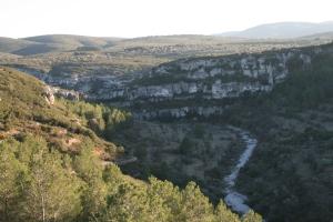Barranc de la Valltorta des de les Coves del Civil o de Ribassals