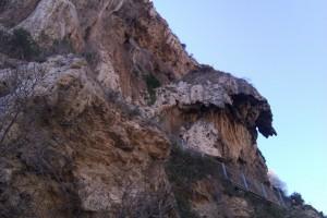 Barret del Capelló a la Cinglera del Capelló, Capellades