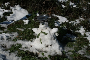 Ninot de neu a l'Arrabassada