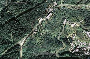A peu des de Vista Rica fins la Pedra amb inscultures de Collserola a Google Earth